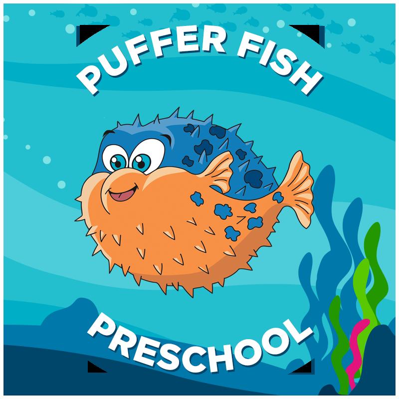 Clipart swimming preschool. Puffer fish propel swim