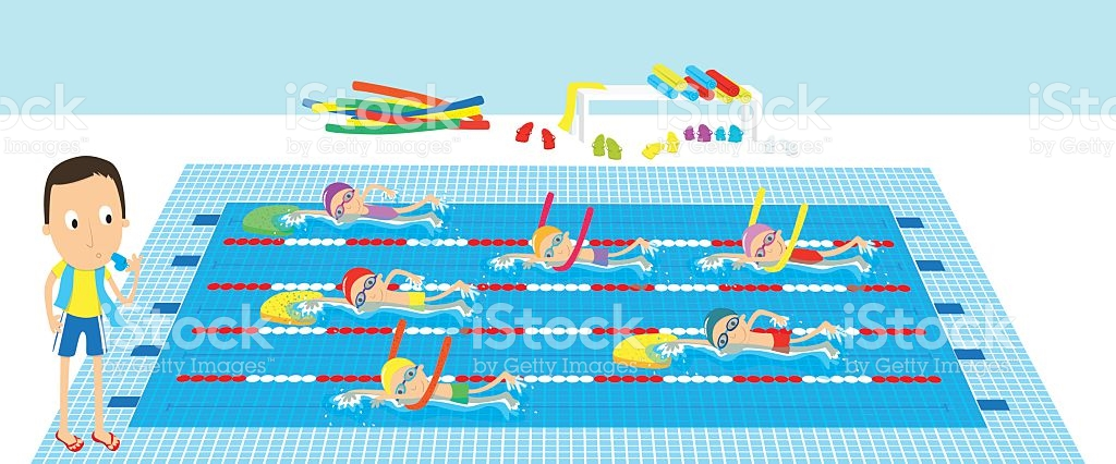 Clipart swimming preschool. Lessons station