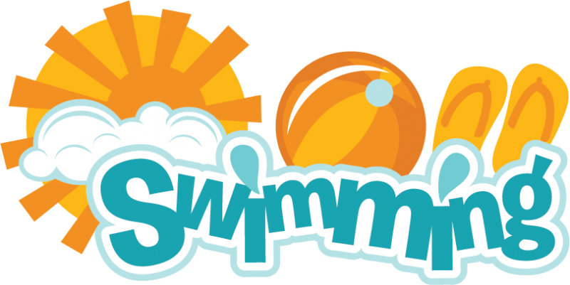 Swimsuit clipart svg. Swimming scrapbook title cut