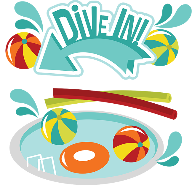 Dive in svg scrapbook. Diving clipart swimming pool