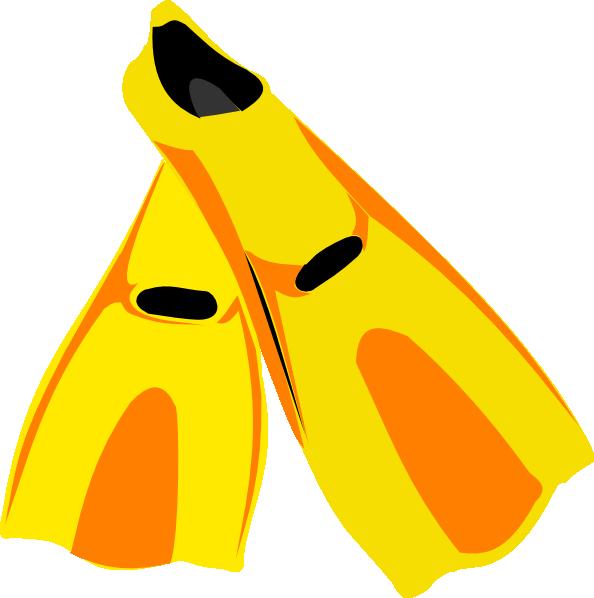 Snorkel fins clip art. Gear clipart scuba