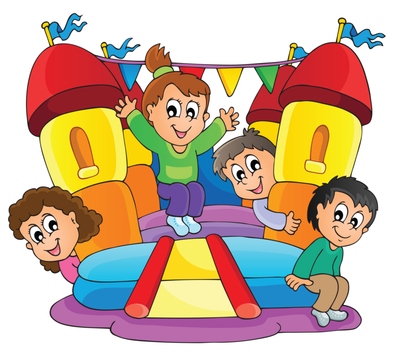 Summertime kids and community. Games clipart funfair game