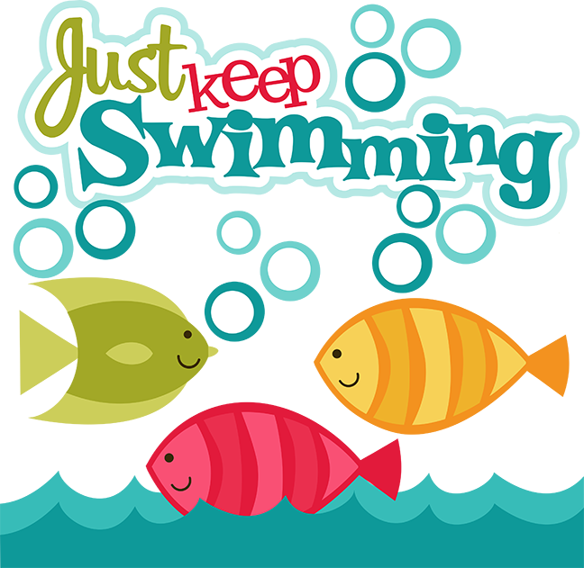collection of just. Words clipart swimming