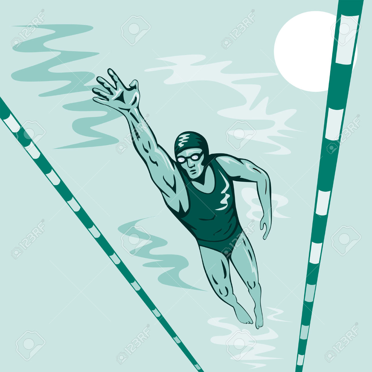 Competitive cliparts zone . Clipart swimming swimming competition