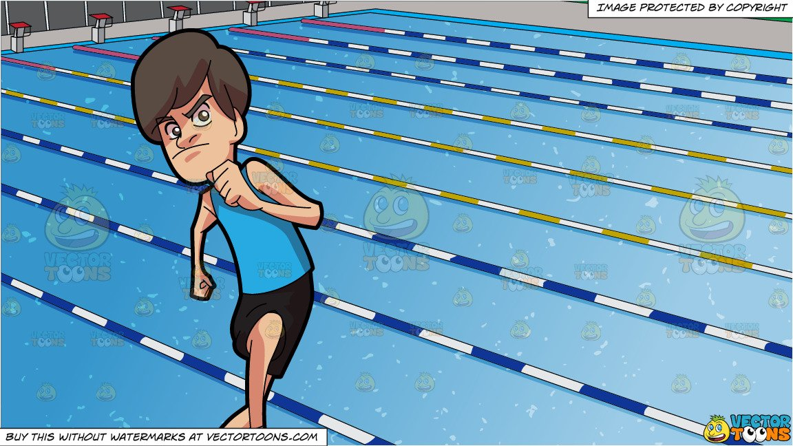 Clipart swimming swimming race. A man on track