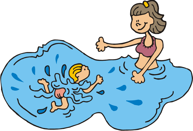 Pool schedule steeple run. Swimmer clipart swiming