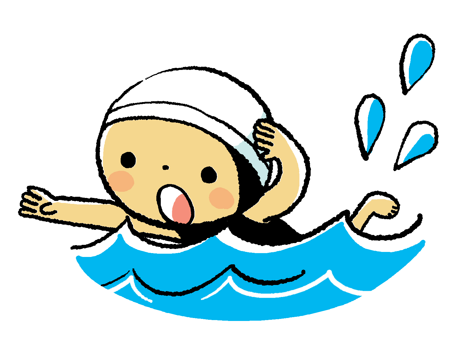 Clipartpost . Swimmer clipart baby swimming