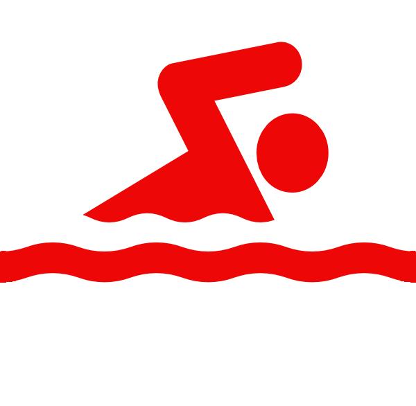Swim logo clip art. Swimsuit clipart red