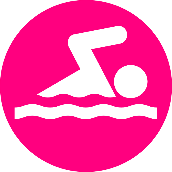 Swimsuit clipart swimmer. Pink clip art at