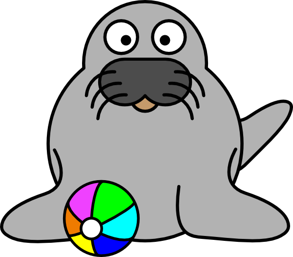 Seal clipart easy. Panda free images clip