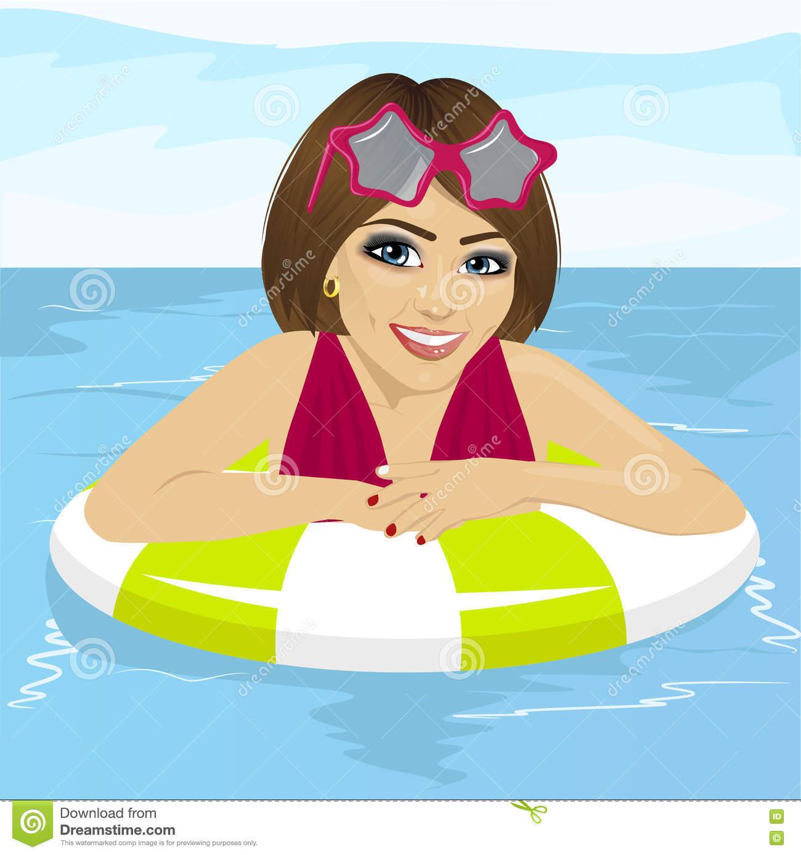 X free clip art. Clipart swimming woman