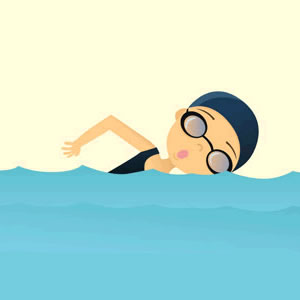 Free women cliparts download. Clipart swimming woman