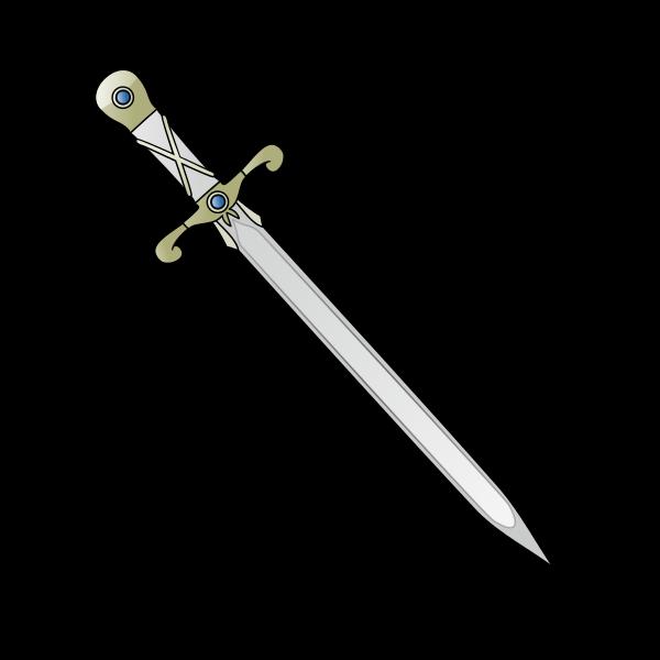 File long sword svg. Dagger clipart thin