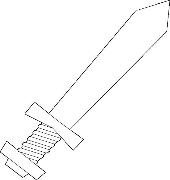 Black and clip art. White clipart sword