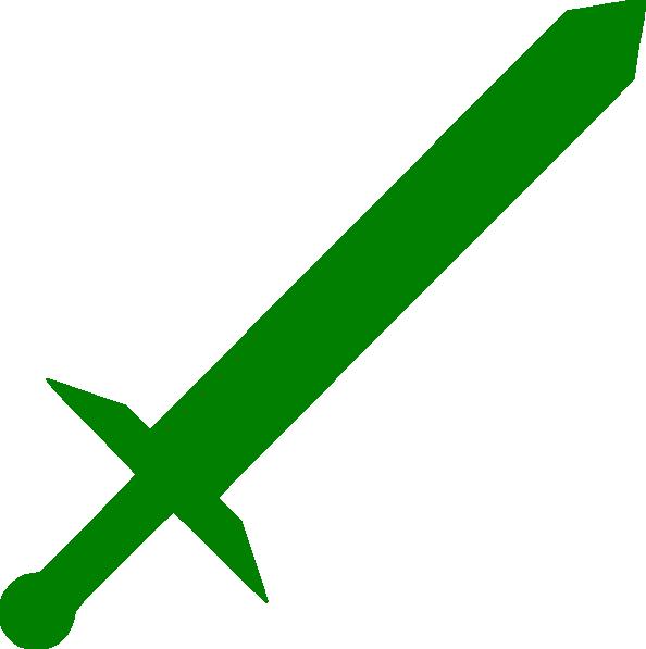 Green clip art at. Clipart sword broadsword