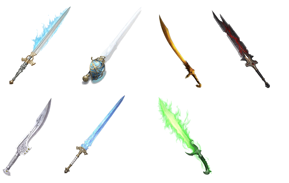 Clipart sword broadsword. From left to right