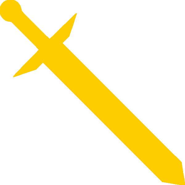 Gold clip art at. Warrior clipart sword clipart