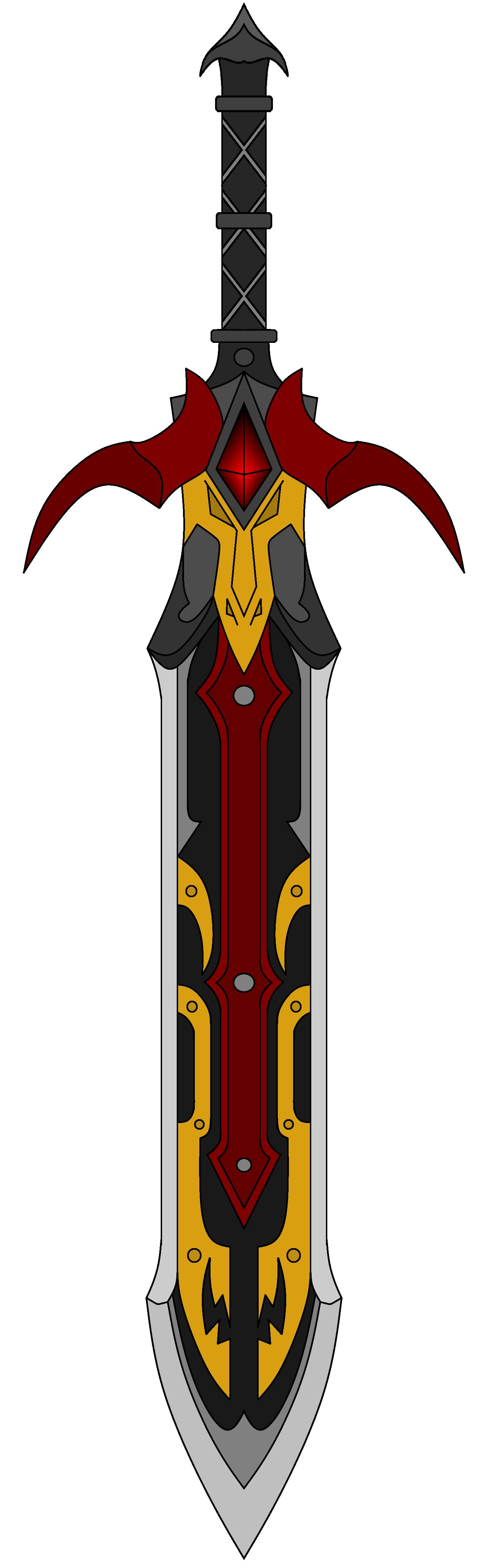 Sword of the dragon. Dagger clipart thin