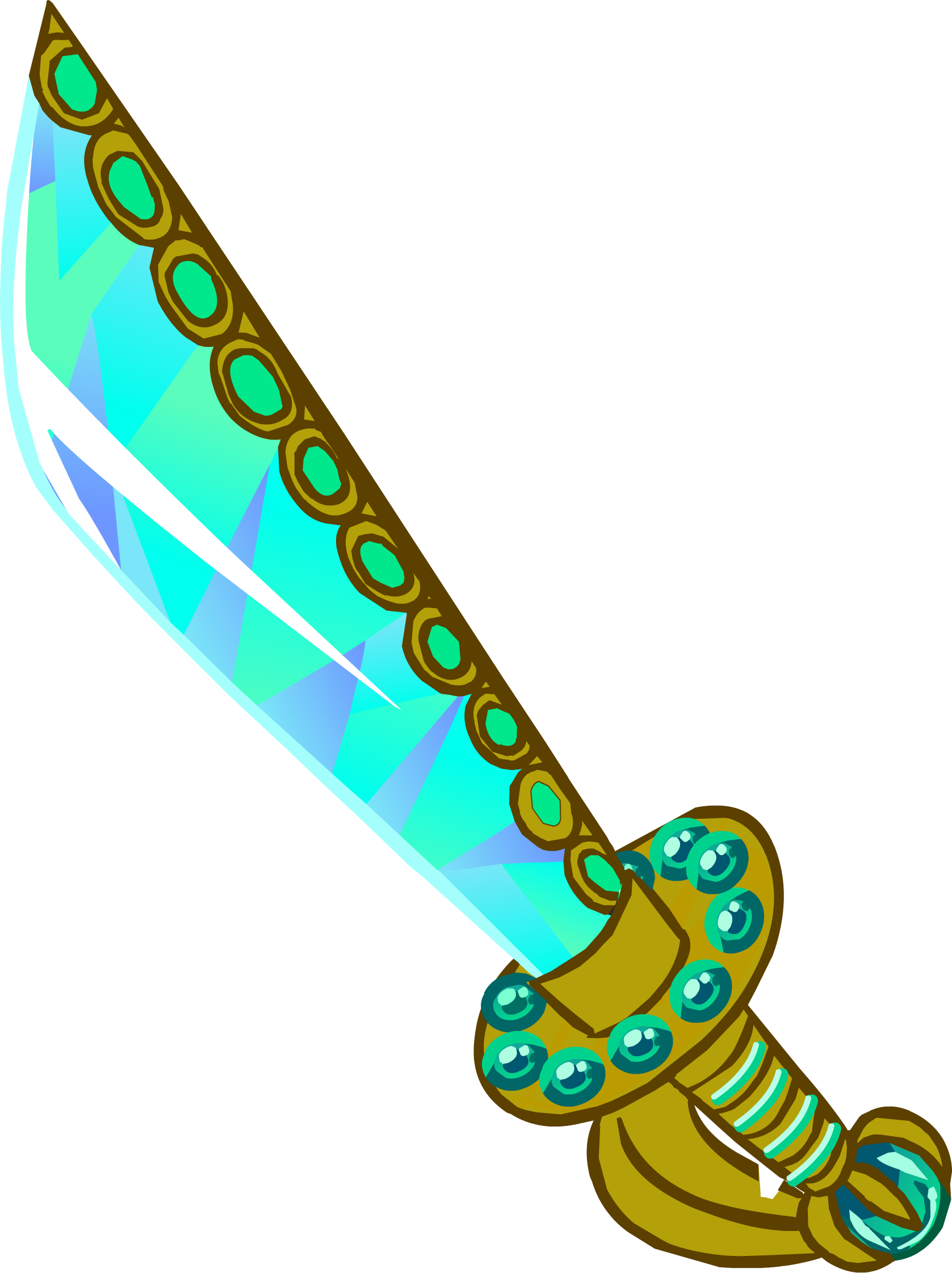 Jeweled cutlass penguin wiki. Club clipart club weapon