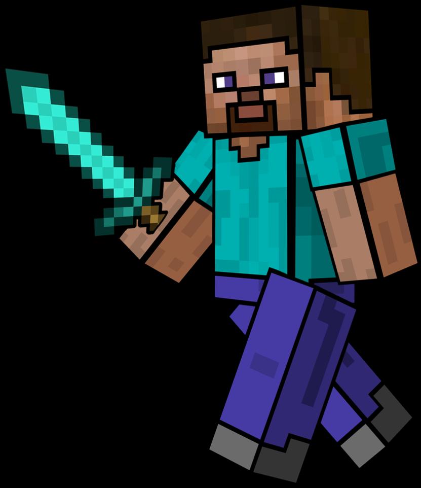 Minecraft steve at getdrawings. Clipart sword diamond