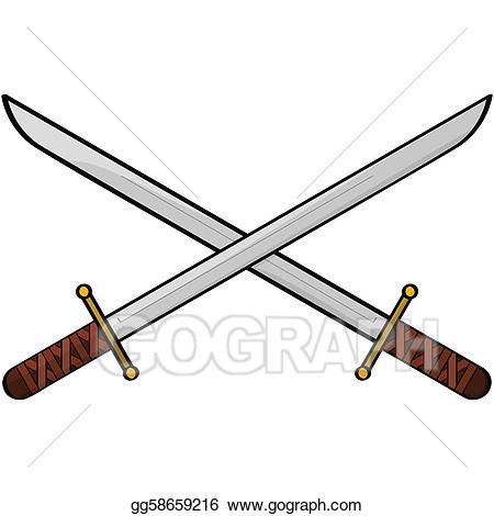 Clipart sword eps. Vector illustration swords gg