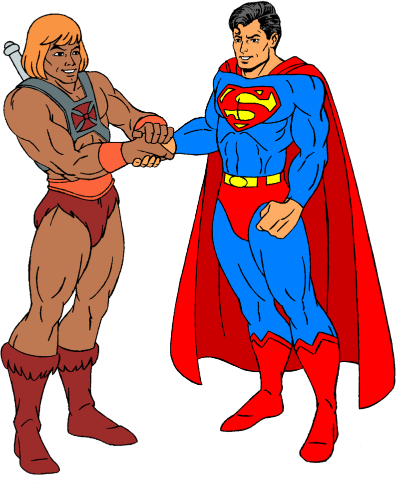 Clipart sword he man. And superman by fagian