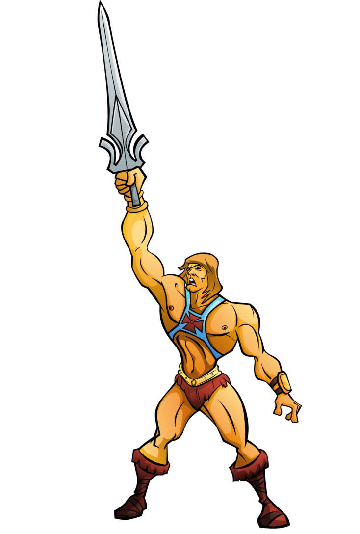 By naazunutty on deviantart. Clipart sword he man