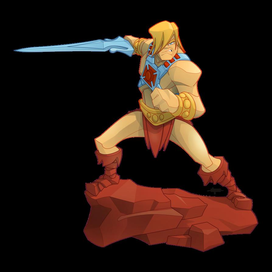 Action pose by burningeyestudios. Clipart sword he man