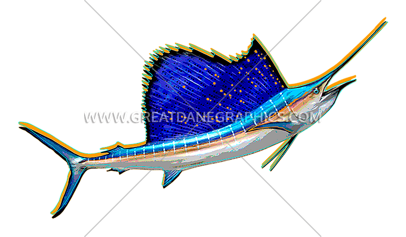 Clipart sword horizontal. Funky sailfish production ready