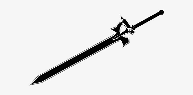 Kirito dark repulser drawing. Clipart sword horizontal