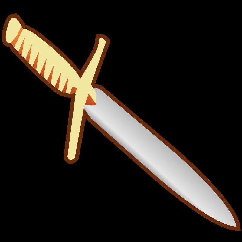 Clipart sword knife. Simple pagan icon medium