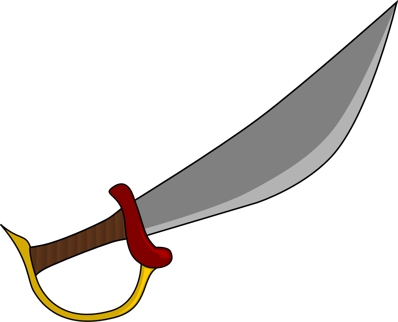 Clipart sword machete. Cutlass medium image png