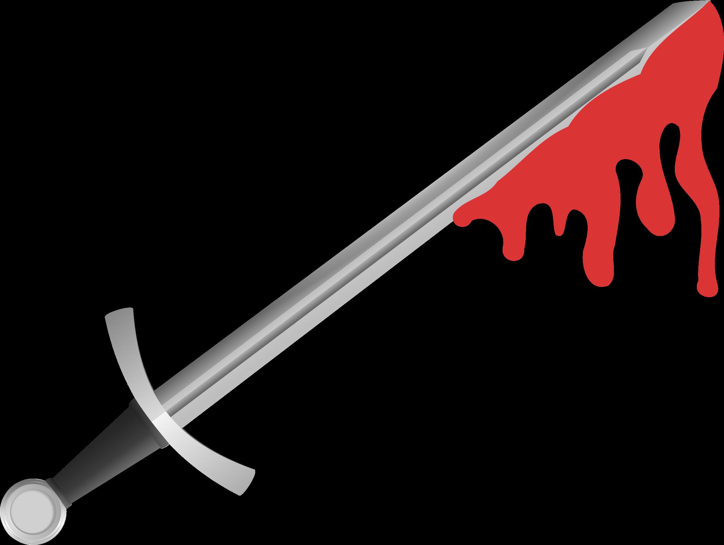 Bloody big image png. Clipart sword original