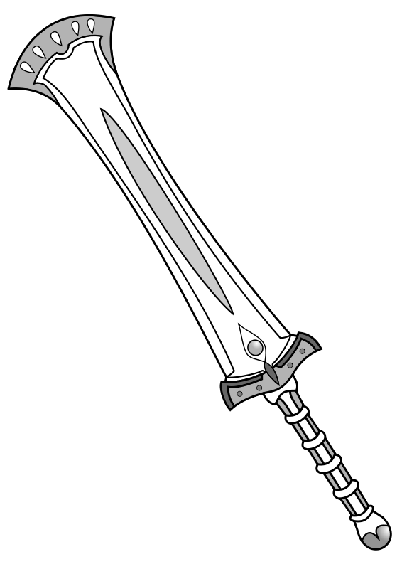 Greatsword clipground free fantasy. Clipart sword outline