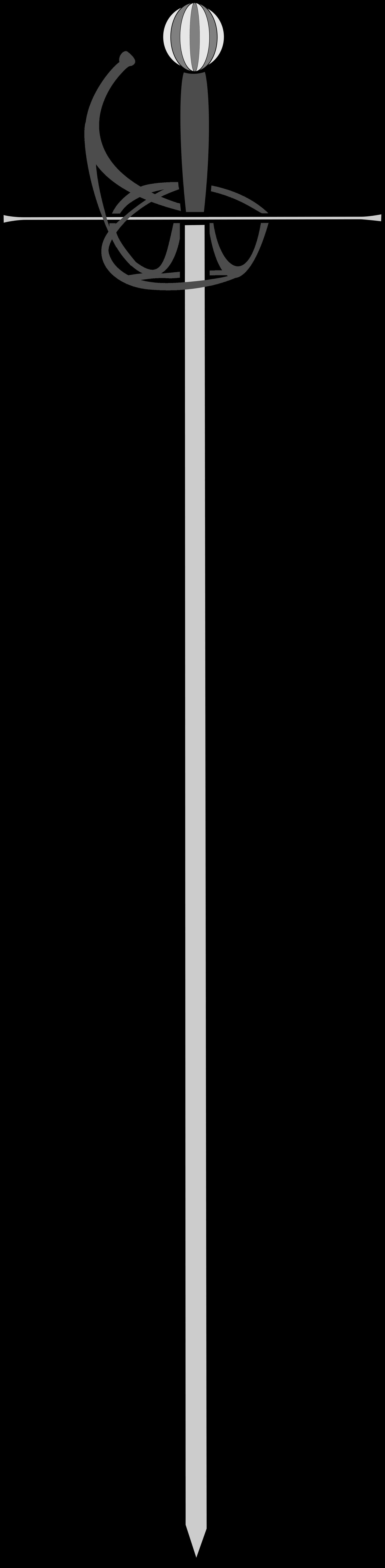 Clipart sword rapier. Big image png