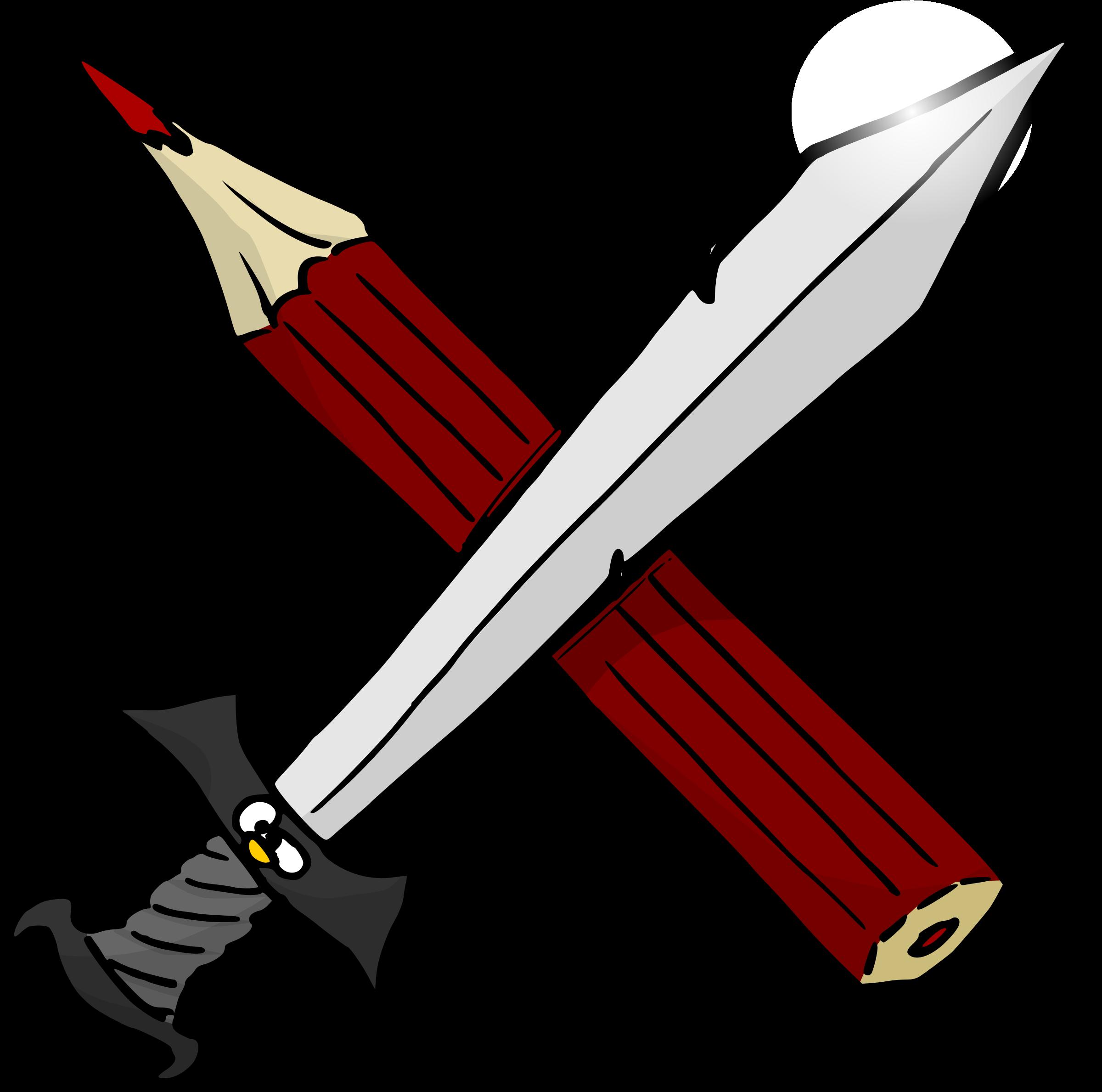Warrior clipart sword clipart. And pencil big image