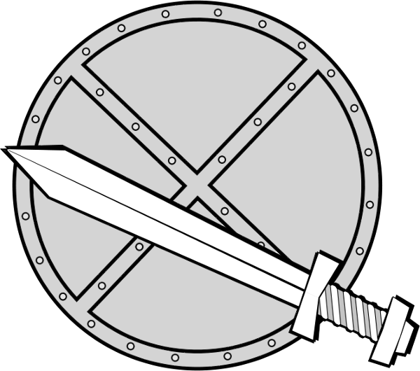 Clipart sword round. And shield clip art
