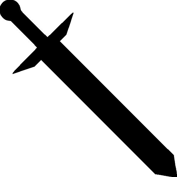 Clipart sword silhouette. Black clip art at