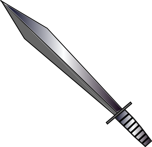 Fighting clipart sword. Clip art at clker