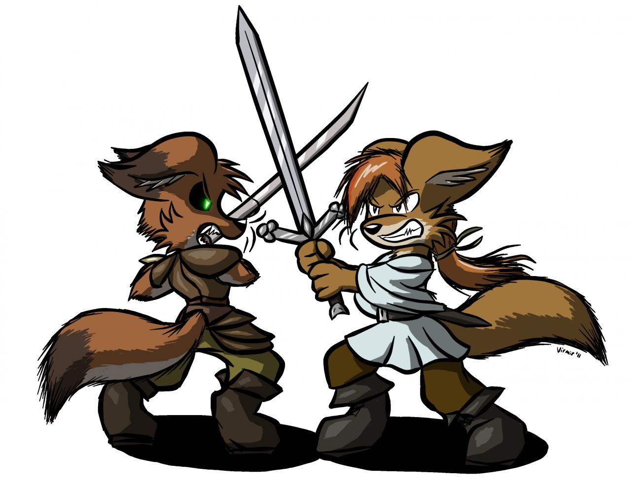 Fighting clipart sword. Art by virmir fight