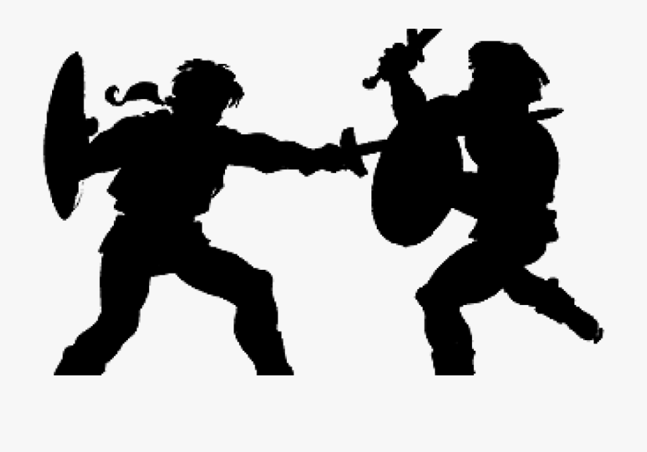 Sword fight two men. Fighting clipart fighting