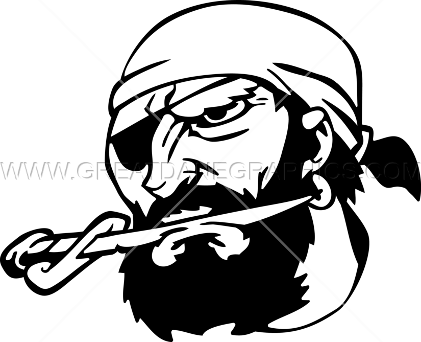 Biting production ready artwork. Pirate clipart sword