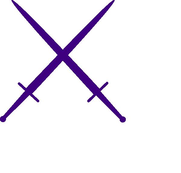 Cross clipart swords. Purple clip art at