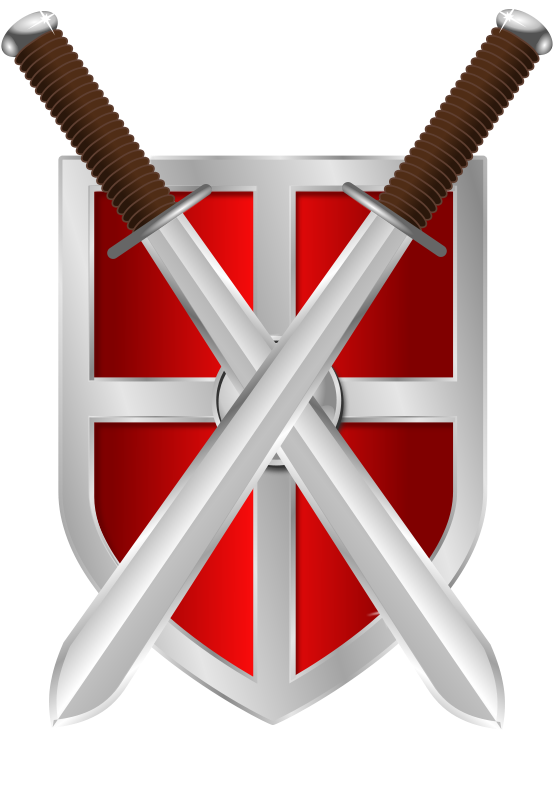 Free swords and shield. Clipart sword vintage
