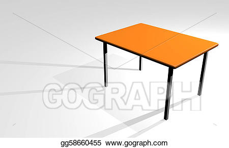 D stock illustration gg. Clipart table 3d table