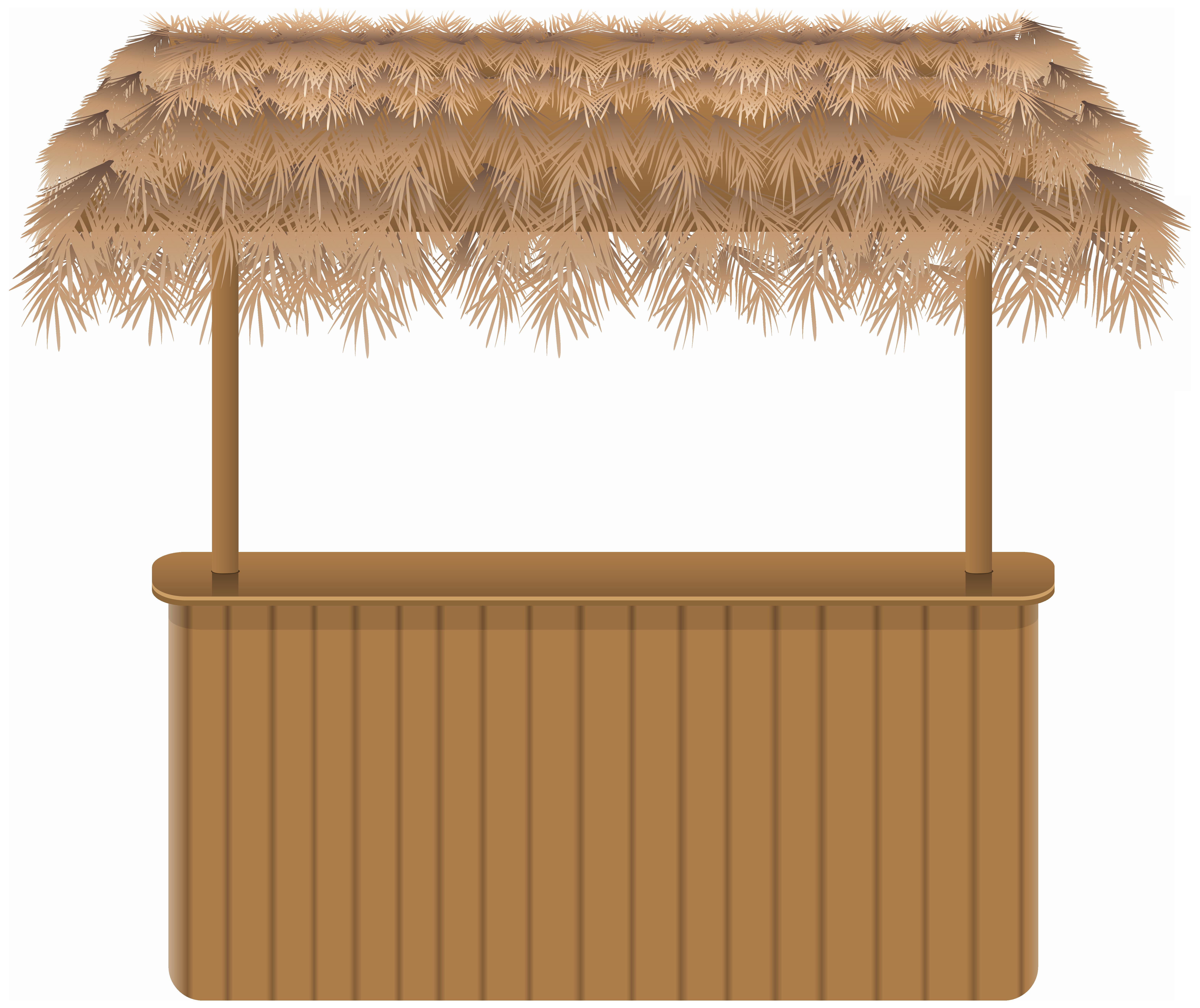 Hawaiian clipart tiki bar. Beach png clipar image