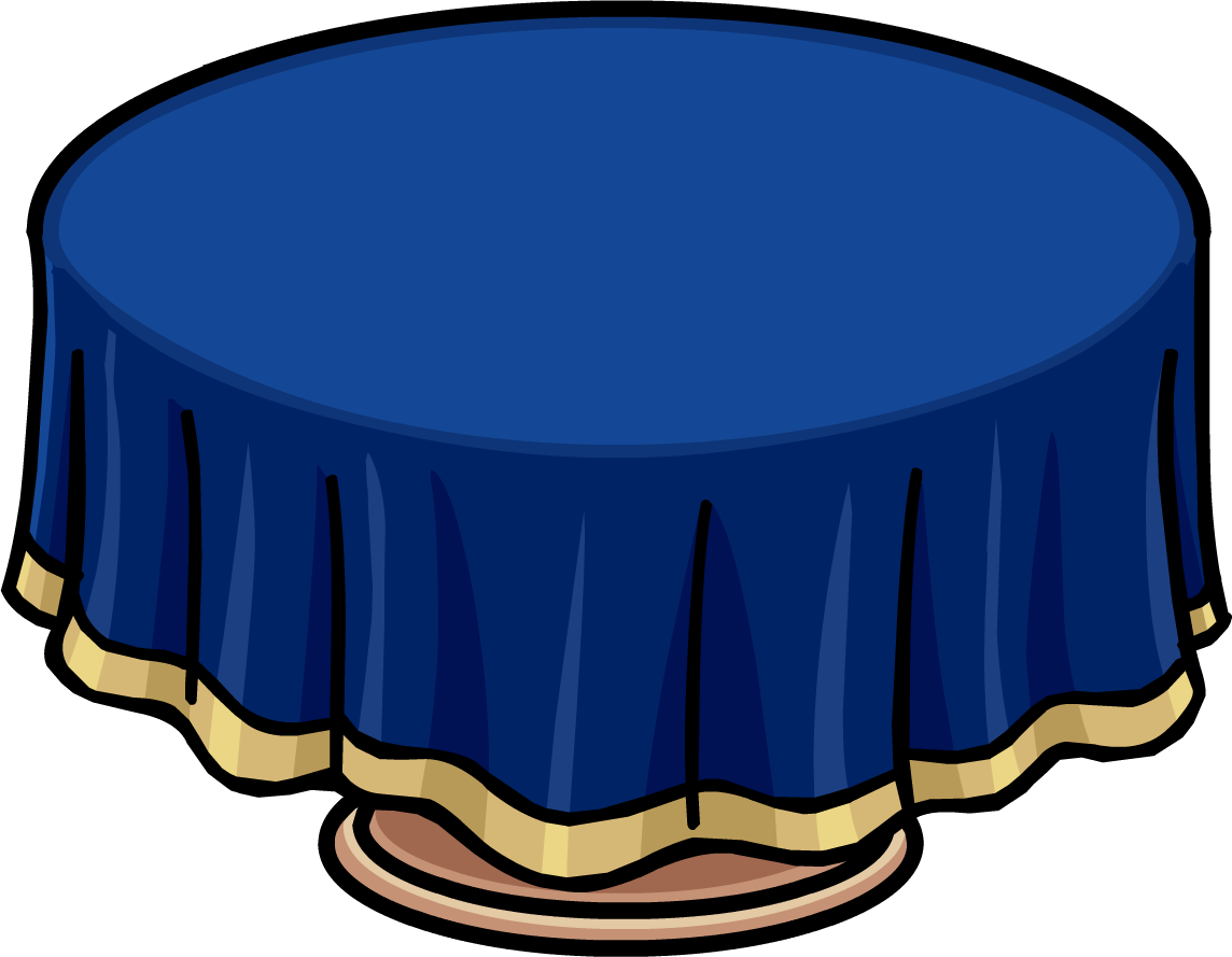 clipart table blue table