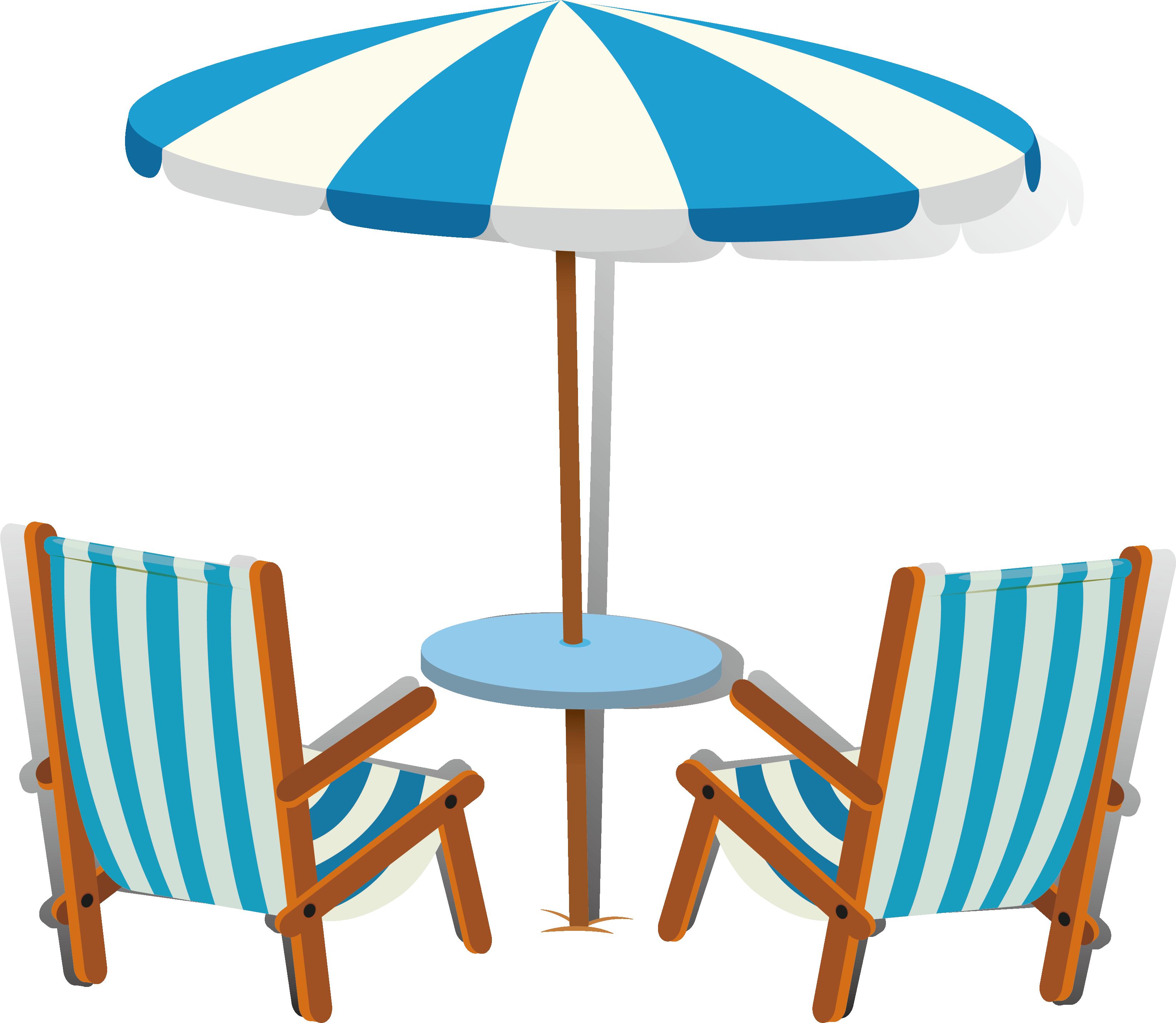 Clipart umbrella striped umbrella. Euclidean vector chair beach