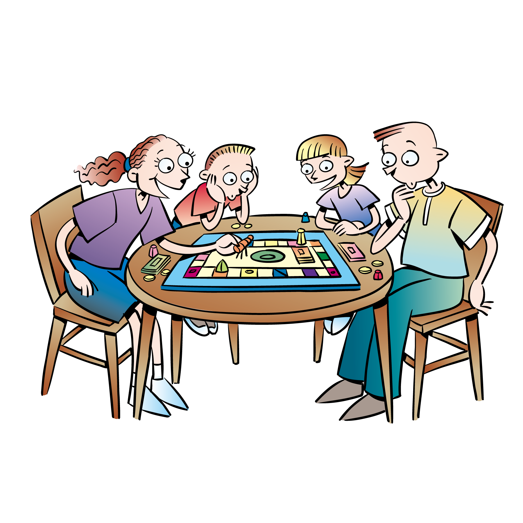 Hasbro family night trivial. Gaming clipart tabletop game
