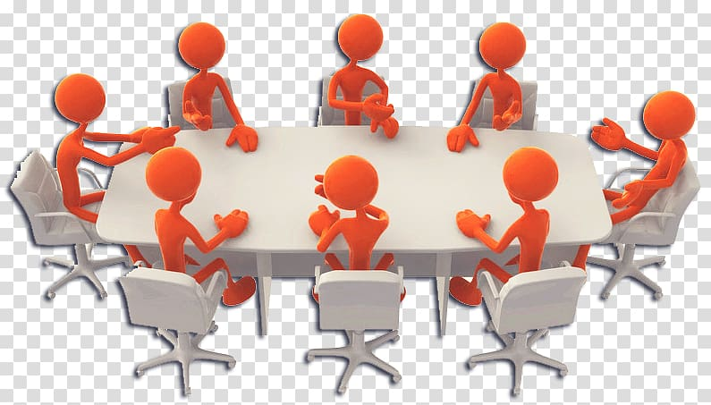 White wooden dining table. Planning clipart committee chairman